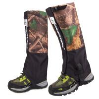 迷彩雪套户外登山装备沙漠防沙鞋套男款滑雪防水护腿脚套女士