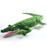 仿真鳄鱼毛绒玩具大号抱枕男孩子仿真公仔睡觉女孩抖音同款布娃娃 仿真鳄鱼 图片色