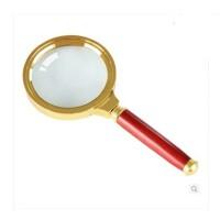 得力放大镜9097 金属放大镜 手持式放大镜 2.5倍放大镜 70mm