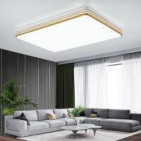 佛山照明长方形LED客厅灯大灯简约现代金色大气家用卧室吸顶灯具