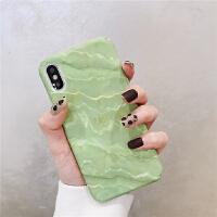 简约抹茶绿色大理石纹8plus苹果x手机壳XS Max/XR/iPhoneX/7p/6女iphone 7/8代4.7