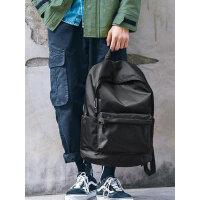 时尚潮流休闲大学生书包电脑韩潮牌大容量旅行背包男士双肩包简约