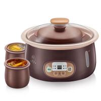 *隔水电炖锅煲汤煮粥锅陶瓷电炖盅燕窝 褐色