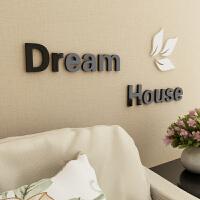 3d立体墙贴创意墙上墙贴纸墙贴画客厅卧室温馨自粘字母可移除墙贴 大