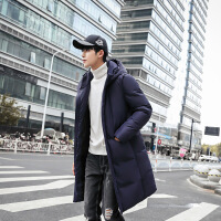 过年穿的冬天胖子穿的加肥加大码棉衣男士中长款宽松大号羽绒新款青年棉袄外套