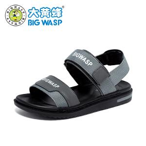 大黄蜂童鞋 2018夏季新款男童沙滩凉鞋柔软防滑韩版中大童6-16岁