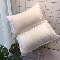 全棉薰衣草枕头助睡眠护颈椎可水洗单人学生枕芯一对拍二