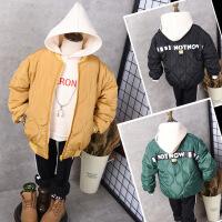 冬季新款儿童宝宝菱形格拉链衫男童休闲外套棉衣外套B7-T48