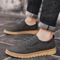 鞋子男休闲鞋百搭男鞋韩版潮流加绒棉鞋冬季商务皮鞋