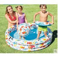 小孩水池玩耍球池圆形婴儿游泳池家用充气水池儿童戏水玩具