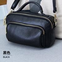 女式包包2018新款时尚真皮手提包女小包简约百搭软牛皮单肩斜挎包SN3959 黑色 预售 6号发货