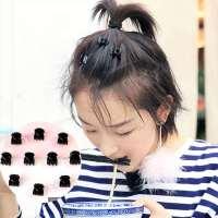 头发头饰夹子小号儿童韩国发卡短发边夹刘海女抓夹小黑色发夹