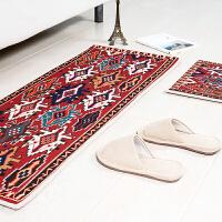 中式民族风长条地垫门垫厨房进门脚垫浴室沙发茶几地毯卧室床边垫 塔罗牌 新款地垫 45*180cm 1条 地垫
