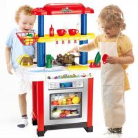 儿童过家家女孩大型厨房灯光音乐玩具套装多功能做饭清洁餐具套装5kz