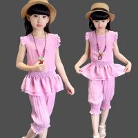 童装夏装女童套装新款女韩版时尚中大儿童两件套夏季小孩衣服