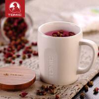 tomic特美刻 马克杯带盖勺可爱简约定制大容量创意陶瓷咖啡水杯子