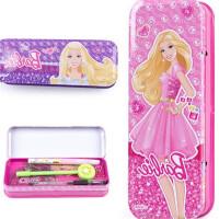 文具盒B8053 铁芭比儿童马口铁盒 三层可爱女孩卡通创意铅笔盒 女生用 颜色*
