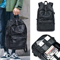 男士双肩包简约时尚潮流休闲电脑韩潮牌大容量旅行背包大学生书包