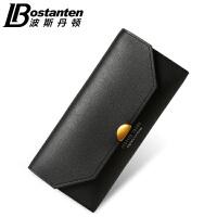 波斯丹顿长款钱包女大容量三折女士手拿包韩版拉链手包2017新款潮BW3172181