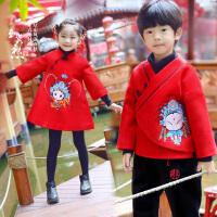 儿童古装秋中国风唐装母女童男大童套装民族风冬款汉服过年宝宝装