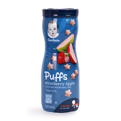 美国嘉宝泡芙 切达泡芙条婴儿gerber儿童进口宝宝零食星星puffs