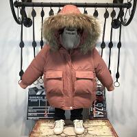 男童冬装韩版儿童棉袄中长款加厚外套洋气宝宝棉衣潮
