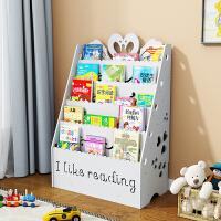 儿童书架简易卡通宝宝书架落地收纳书柜书报架幼儿园绘本架