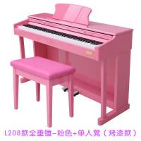 电钢琴88键重锤家用智能幼师初学者儿童电子电钢5465