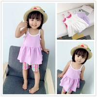 小新度假小吊带 夏季宝宝背心裙0-1-2-3-4岁女童全棉娃娃衫