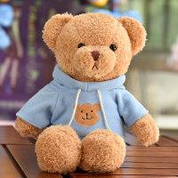 可爱卫衣小熊公仔穿衣泰迪熊毛绒玩具抱抱熊玩偶布娃娃送女生礼物
