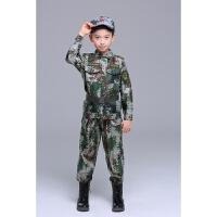 儿童迷彩服男女童套装夏小学生夏令营户外军训服小孩子军装特种兵qg