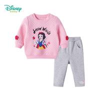 迪士尼Disney童装白雪公主女童套装秋冬新品三层暖棉长袖保暖外出服两用档宝宝衣服183T834