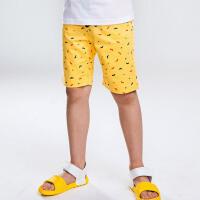 【3折价:80.7元】暇步士童装男童短裤新款夏装大中童3分裤子儿童梭织裤