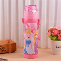 正版授权 小学生夏天凉水杯米奇吸管杯可爱时尚喝水塑料杯