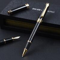 HERO英雄宝珠笔 88贵族门皮纹工艺笔宝珠笔 签字笔 水笔 碳素笔中性笔 男士练字办公商务礼品礼盒
