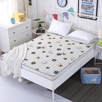 20180923082612911纯棉儿童床褥子薄款铺床被子可折叠可机洗防滑海绵床垫1.2/1.35m 全棉 萌犬哈皮