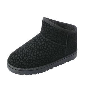 WARORWAR新品YM13-2288冬季韩版平底舒适豹纹女士雪地靴