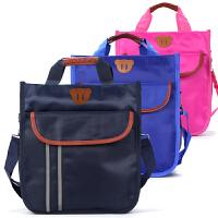小学生用补习袋补课包中学生手提袋帆布书本收纳袋男女儿童单肩书包斜挎包A4