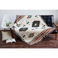 欧式沙发垫沙发巾北欧棉线沙发套布艺全盖防滑几何沙发垫地毯盖布