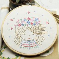 儿童手工艺花环女孩公主手工diy刺绣材料包欧式刺绣套件初学