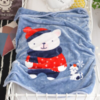 儿童毛毯加厚冬季用珊瑚绒毯子婴儿宝宝盖毯保暖加绒床单人小被子 110*140cm(双层加厚 约2.2斤)