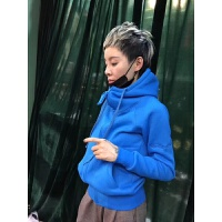 冬新运动卫衣18秋冬款女韩版短款开衫棉料连帽加厚卫衣休闲外套潮