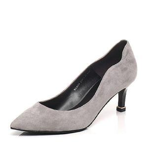 Belle/百丽春季专柜同款羊绒皮尖头细跟OL通勤女单鞋BGAH4AQ7