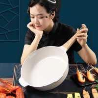 Umetre德国麦饭石不粘锅炒锅家用煎炒平底锅炒菜电磁炉燃气灶适用kb6