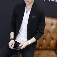 2018秋季新款男士毛衣外穿针织开衫韩版修身薄款潮流毛线衣外套男