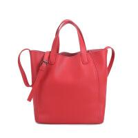 新款包包女包潮欧美风范水桶包女士新款女包百搭时尚休闲手提包潮流大容量购物包包