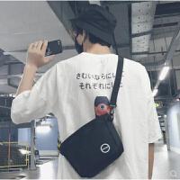 男生斜挎包包韩版潮男学生个性小背包单肩斜跨夏日休闲手机零钱包