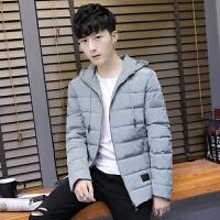 枫裳依舍2017冬季新款韩版男士羽绒服男短款修身加厚潮流青年学生连帽外套