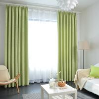 窗帘成品简约现代双层窗帘成品遮光星星纯色纱帘窗帘成品卧室客厅窗帘成品成品订做