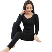 保暖内衣套装女美体薄款棉秋衣秋裤套装学生打底线衣线裤 均码,适合80-135体重